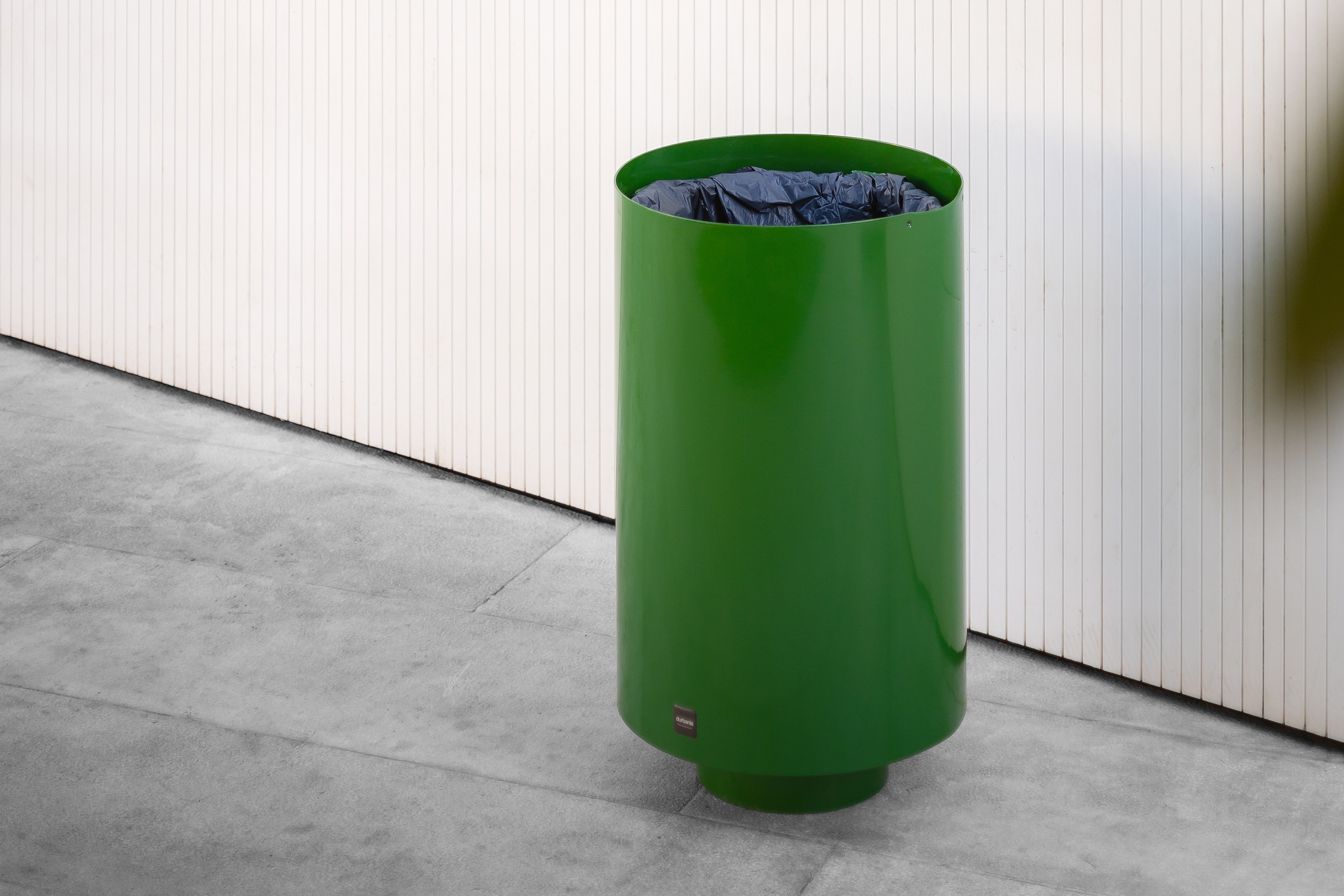 Green paperbin by the design firm Durbanis. Spain